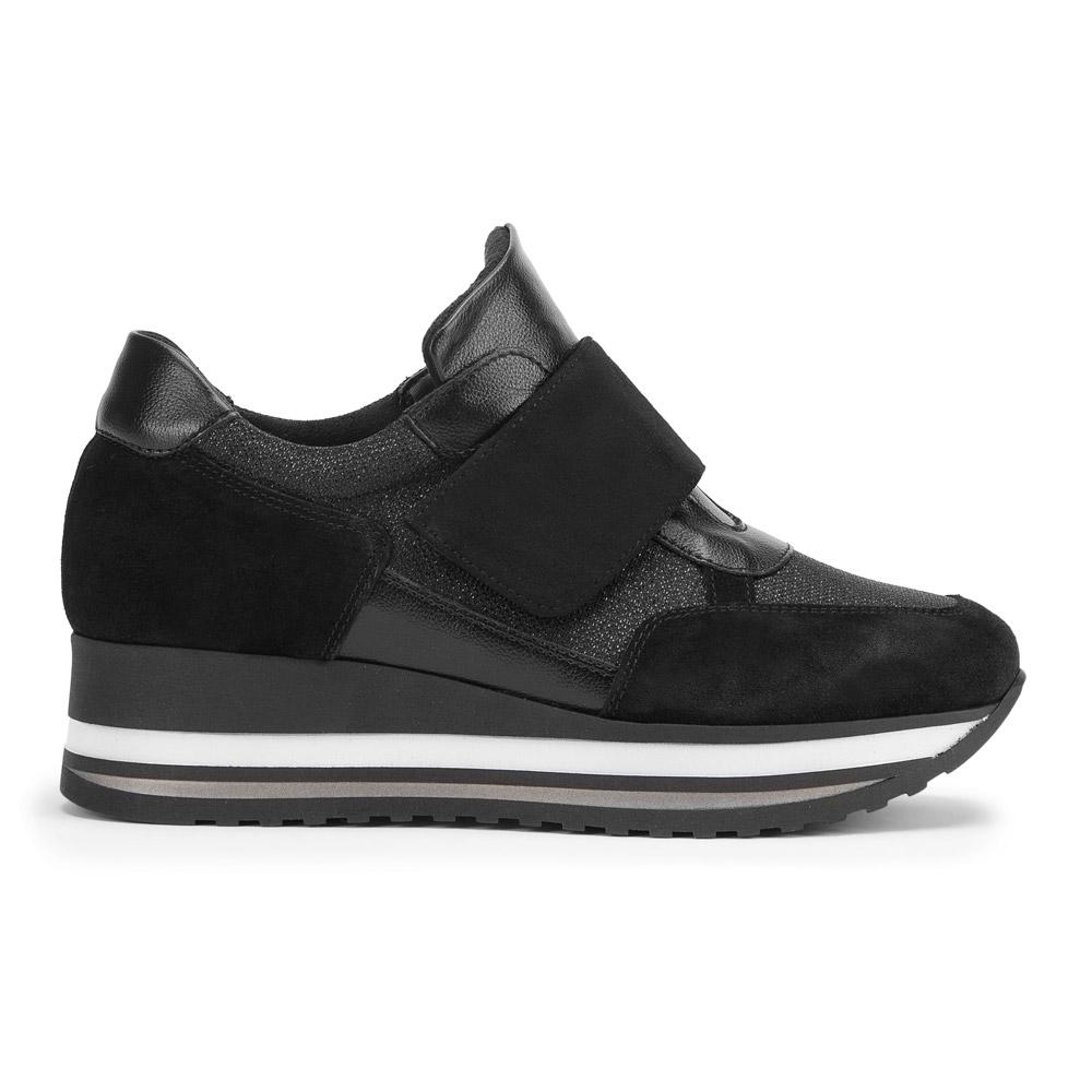 Damskie sneakersy zamszowe na rzep